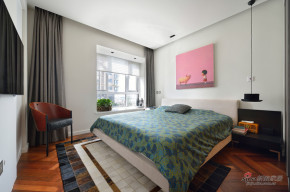 现代 二居 卧室 公主房图片来自装修微日记在【高清】15万营造97平现代明快空间45的分享