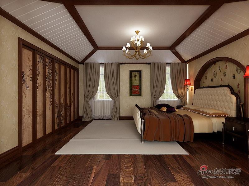 中式 复式 卧室图片来自用户1907696363在通州260平自建复式现代中式设计84的分享