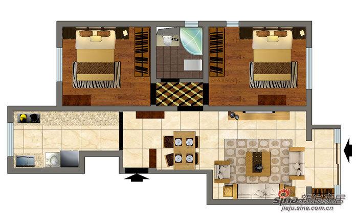 中式 二居 客厅图片来自用户1907659705在活色生香的新中式风格 万科依润园两居室61的分享