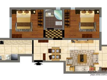 活色生香的新中式风格 万科依润园两居室61