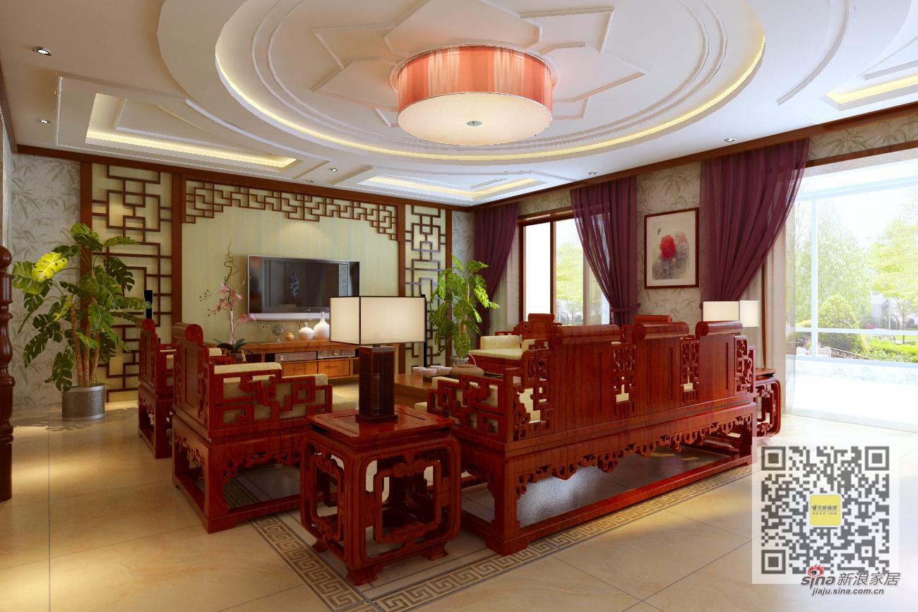 中式 三居 客厅图片来自用户1907658205在典雅中式复式50的分享
