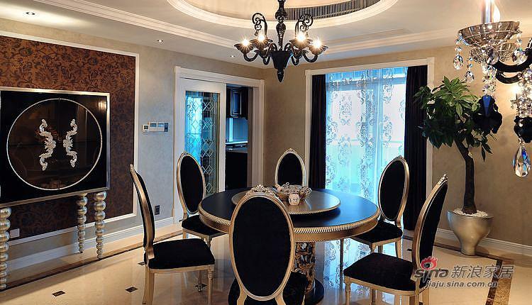新古典 三居 餐厅图片来自装修微日记在【高清】116平新古典魅惑大气3居97的分享