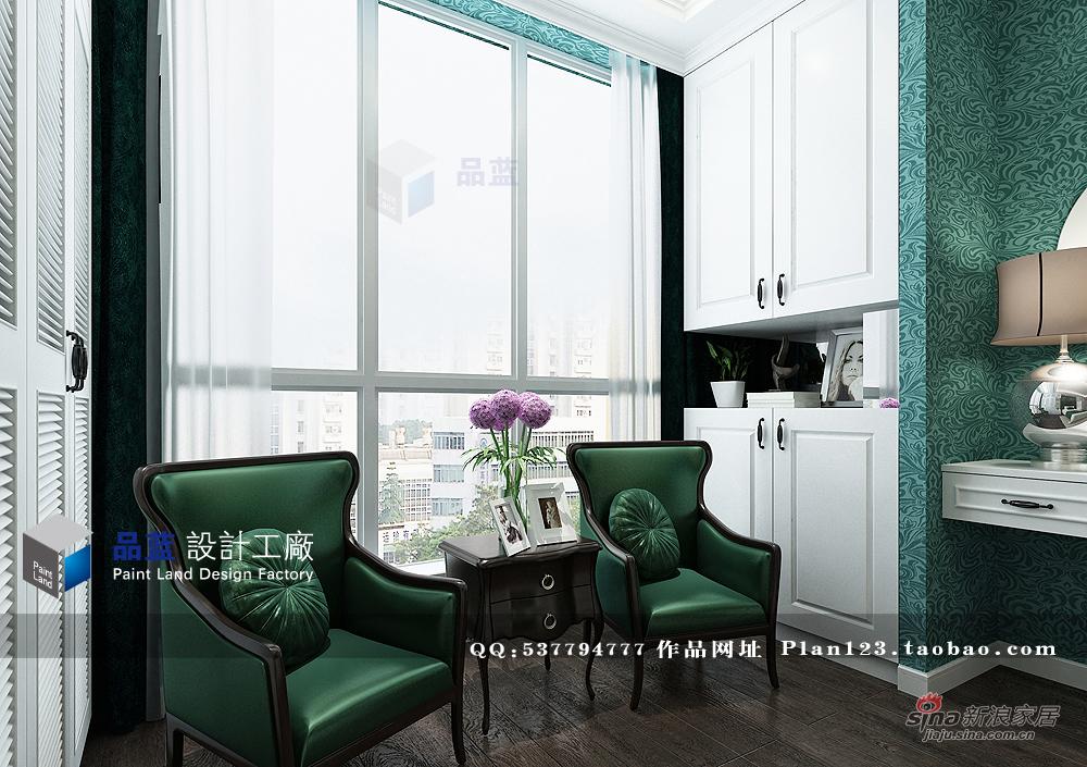 欧式 三居 卧室图片来自用户2745758987在【高清】《翡翠夫人》--132平米样板房32的分享