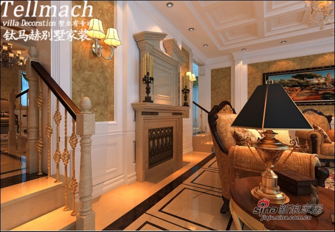 欧式 别墅 客厅图片来自用户2772873991在48万打造500平新欧式风格别墅设计86的分享