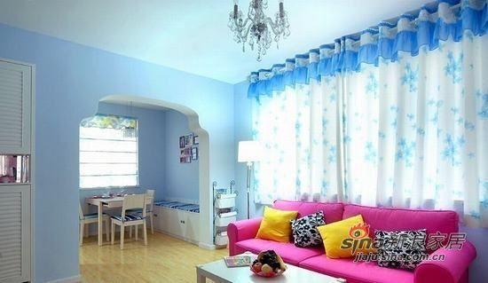 地中海 二居 客厅图片来自用户2756243717在小两口90平梦幻家91的分享