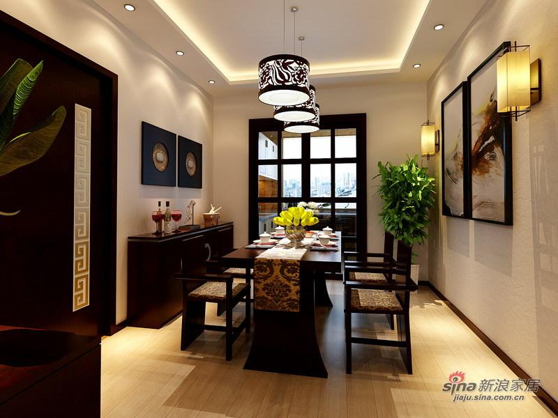 中式 三居 餐厅图片来自用户1907662981在独具匠心130平清雅中式桃源古居61的分享