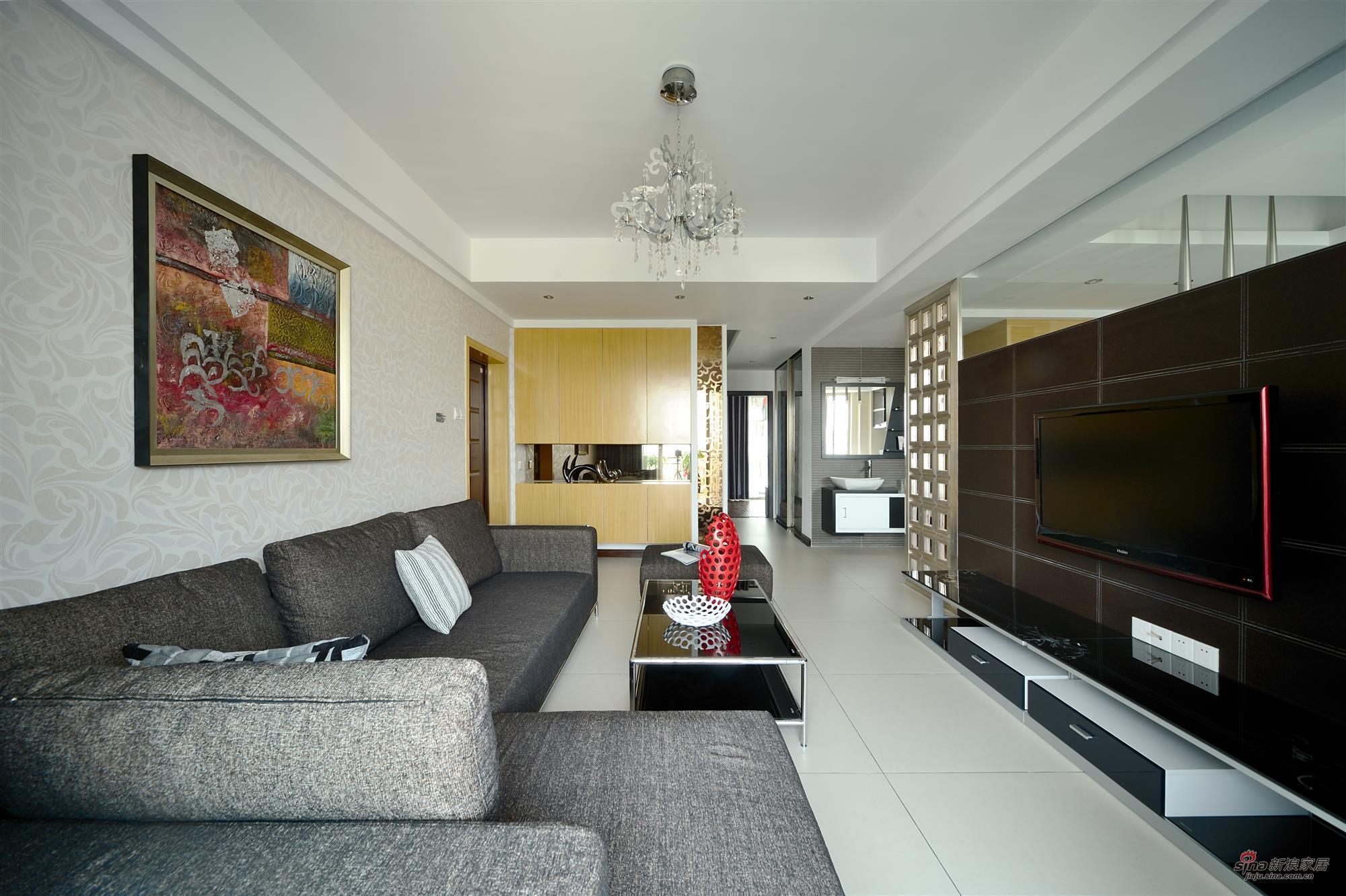 简约 四居 客厅图片来自用户2737759857在山语城(172平米)现代简约设计案例19的分享