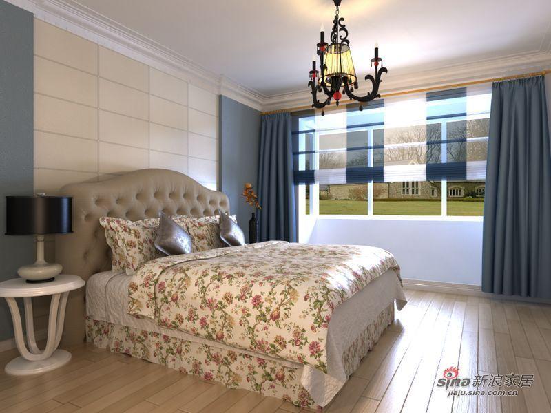 地中海 二居 卧室图片来自用户2756243717在女屌丝5万饰90平地中海式小清新78的分享
