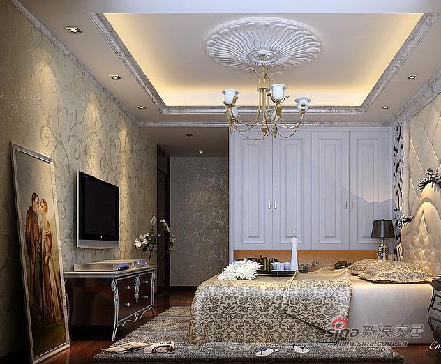 欧式 二居 卧室图片来自用户2757317061在90平米欧式奢华风格21的分享