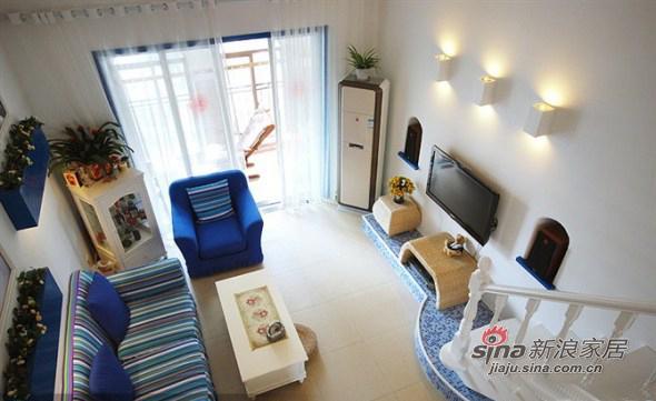 地中海 复式 客厅图片来自用户2757320995在清新地中海98的分享