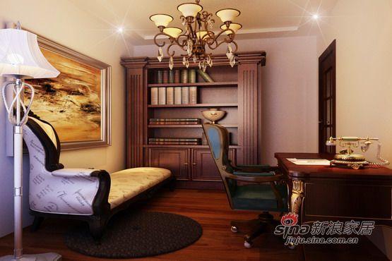欧式 三居 书房图片来自用户2746953981在【宏发长岛】150平米宜家简约欧式99的分享