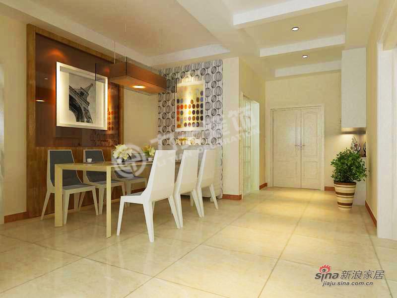 简约 二居 餐厅图片来自阳光力天装饰在天津大都会-2室2厅2卫-现代简约25的分享
