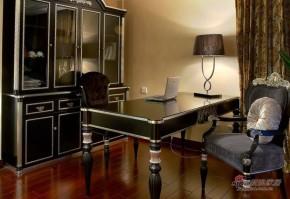 新古典 三居 书房 高富帅图片来自家装大管家在【高清】120平新古典奢华典雅3居室22的分享