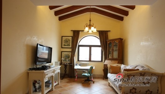 欧式 别墅 书房图片来自用户2745758987在开阔柔美的豪宅式别墅84的分享