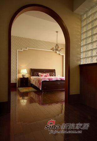中式 别墅 卧室图片来自用户1907662981在320平古韵悠远中式风格别墅35的分享