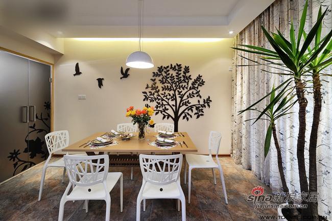 简约 三居 餐厅图片来自用户2737950087在5万翻新130平从容收纳爱家76的分享