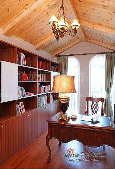 美式 别墅 书房图片来自用户1907686233在让阳光在家中飞舞450平大别墅87的分享