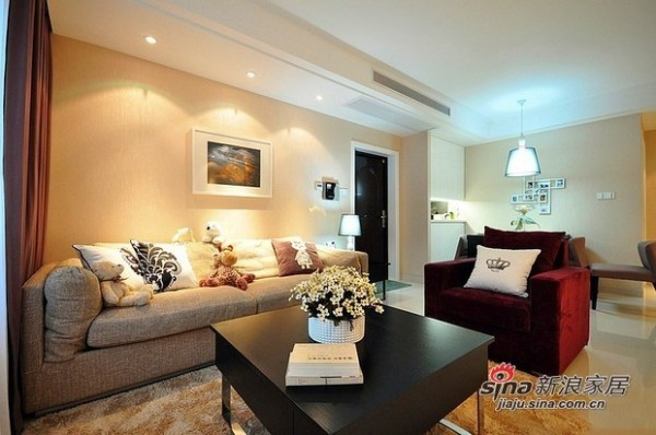 客厅及沙发布置