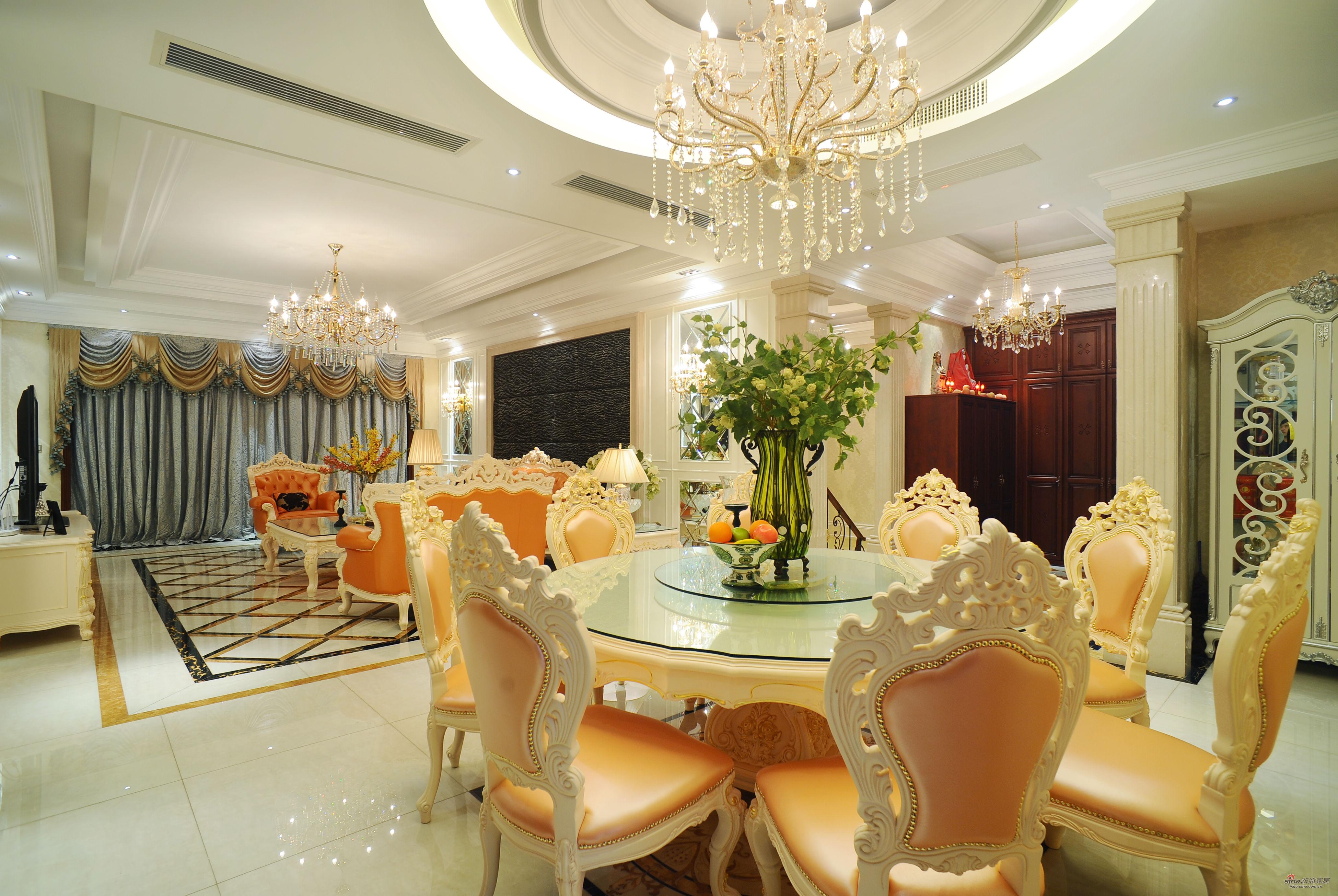欧式 别墅 餐厅图片来自用户2746953981在【高清】欧式风格奢华设计399平米大豪宅29的分享