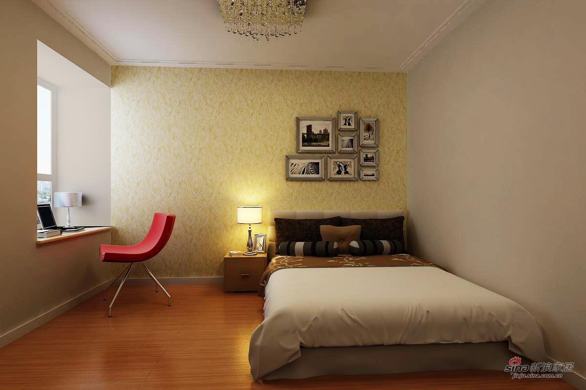 简约 三居 卧室图片来自用户2739081033在现代简约效果图~金地朗悦41的分享