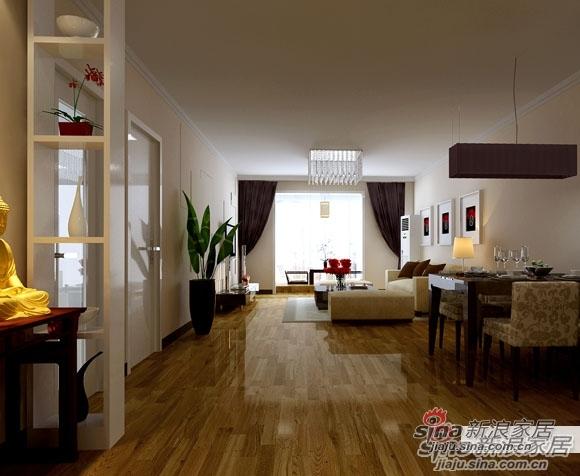 简约 二居 客厅图片来自用户2557979841在90平中式清新二居仅5.8万35的分享