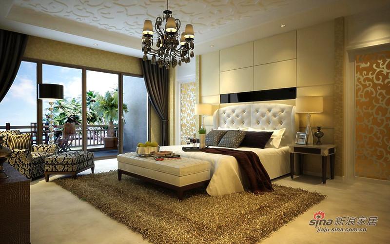 欧式 别墅 卧室图片来自用户2772873991在全力打造450平保利垄上欧式新古典设计72的分享