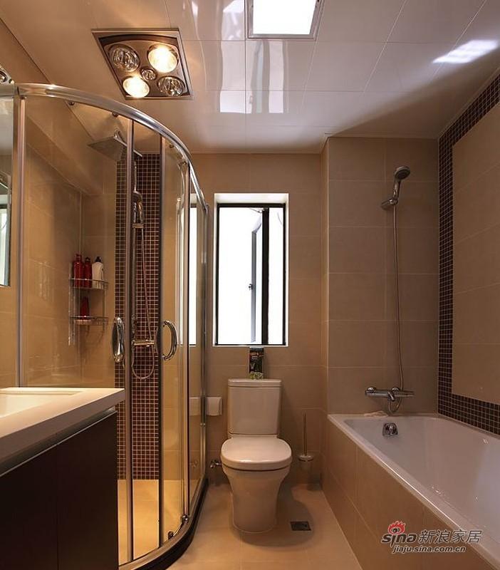 简约 二居 卫生间图片来自用户2737950087在5.8万演绎100平黑白系时尚简约2居室98的分享