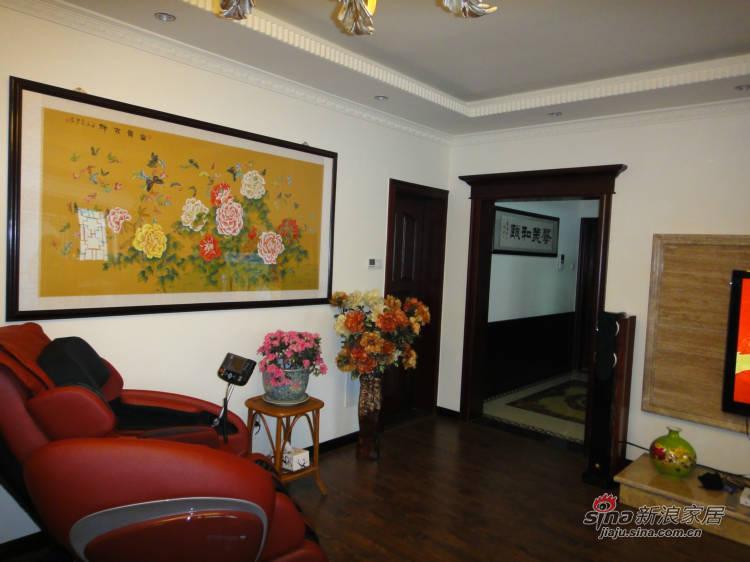 中式 三居 客厅图片来自用户1907661335在5.8万巧装130平中式爱家87的分享