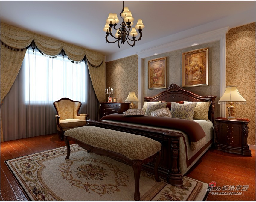 欧式 三居 卧室图片来自用户2772856065在150平新古典风格精简之美17的分享