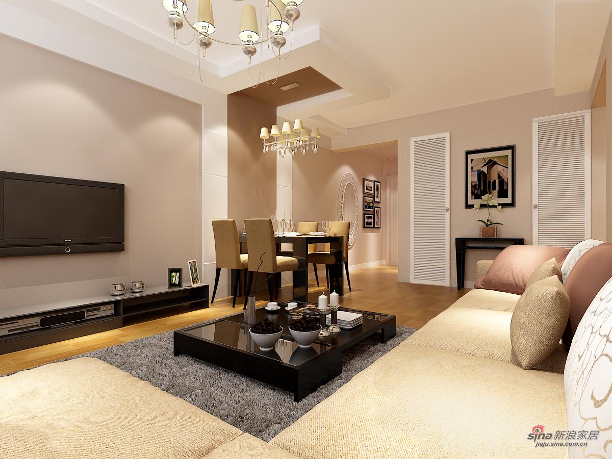 简约 二居 客厅图片来自用户2557979841在青岛实创装饰-6万打造海岸华府88平简约精装73的分享