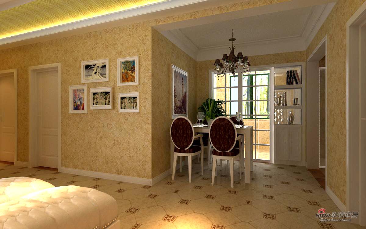 欧式 三居 餐厅图片来自用户2745758987在理想城124平完美3居83的分享