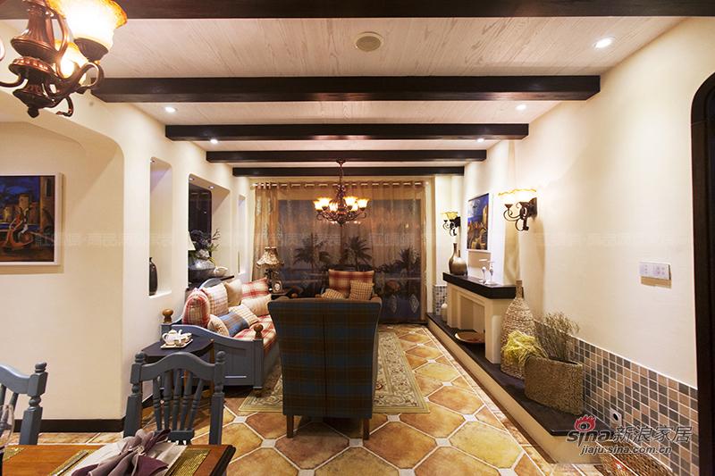 地中海 三居 客厅图片来自用户2757320995在【高清】155平亲和力地中海风格样板间装修46的分享