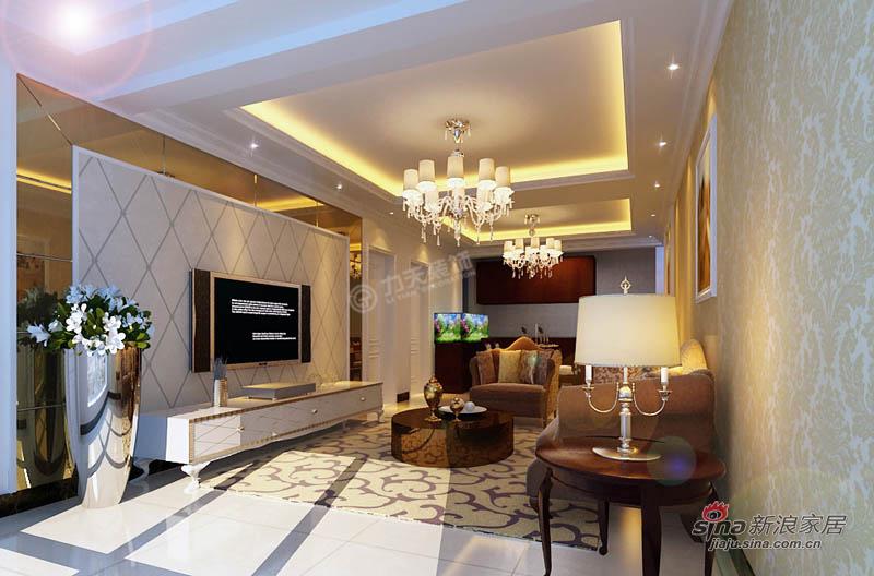 欧式 三居 客厅图片来自用户2772873991在欧美小镇117平米-三室两厅-简欧风格48的分享