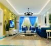 8.9万打造宏福苑小区138平三室一厅地中海风格28