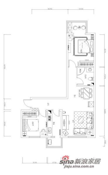 简约 二居 客厅图片来自用户2738813661在魅力清河苑风情二居室74的分享