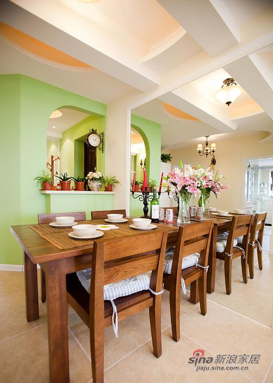 美式 三居 餐厅图片来自用户1907686233在【高清】110平清爽美式混搭3居室30的分享