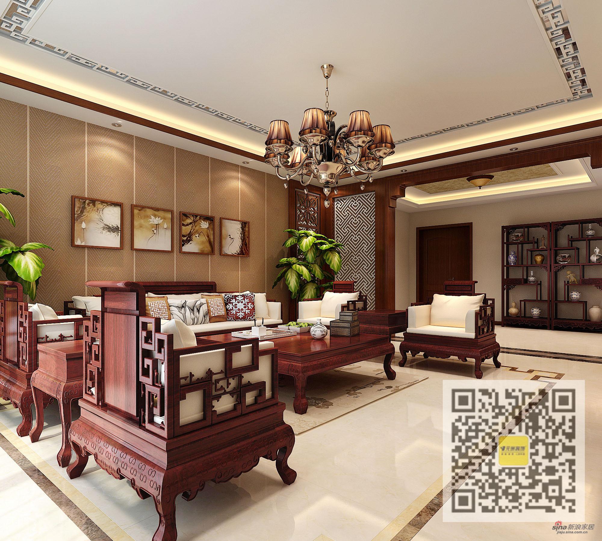 中式 三居 客厅图片来自用户1907659705在新中式风格三居室71的分享