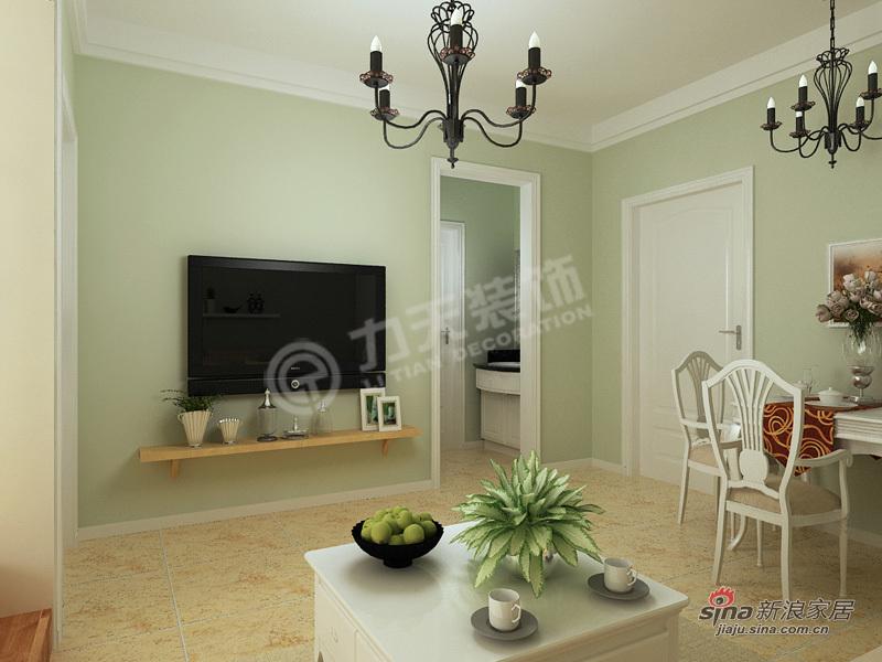 田园 二居 客厅图片来自阳光力天装饰在两室两厅田园风格自然美家64的分享