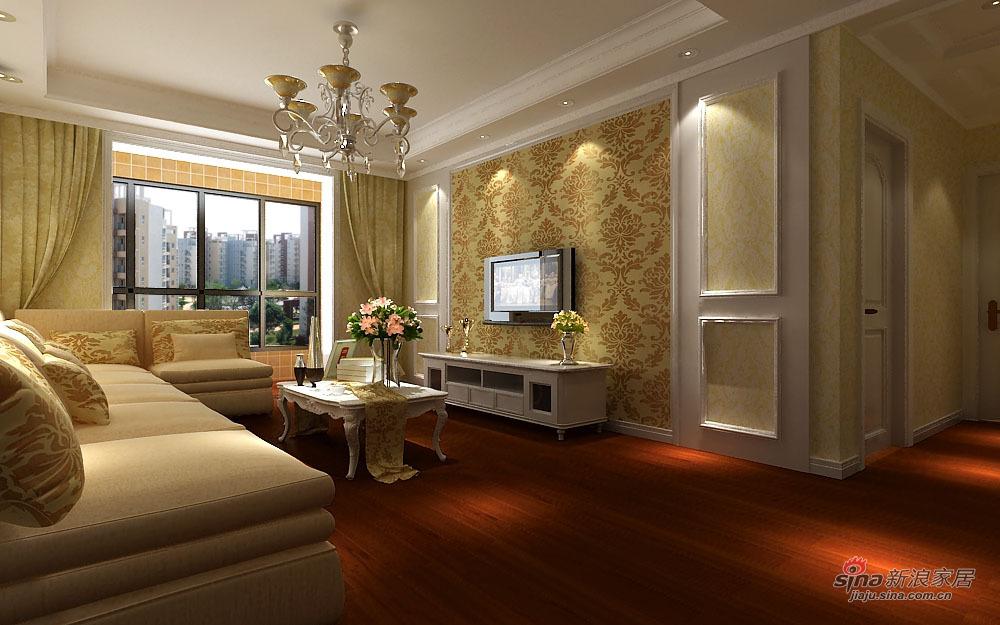 欧式 二居 客厅图片来自用户2746889121在温馨简欧两居室78的分享