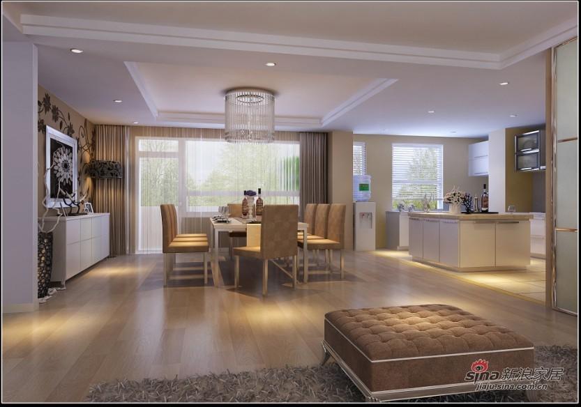 现代 三居 餐厅图片来自用户2772355195在14W装饰160平米清新收纳小家族64的分享