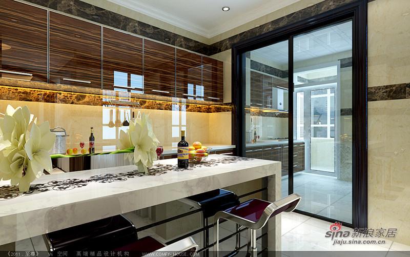欧式 复式 厨房图片来自用户2746889121在258平欧式混搭高贵大气复式别墅16的分享