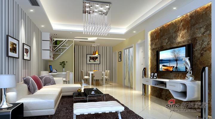 简约 二居 客厅图片来自用户2739081033在天津实创-松江城现代简约两居34的分享