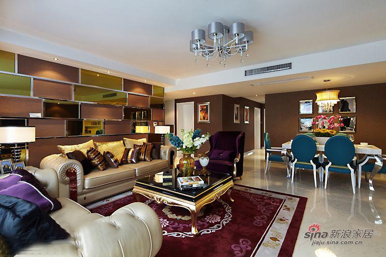 欧式 三居 客厅图片来自用户2746948411在【青岛实创装饰】青特花溪地古典奢华3居71的分享