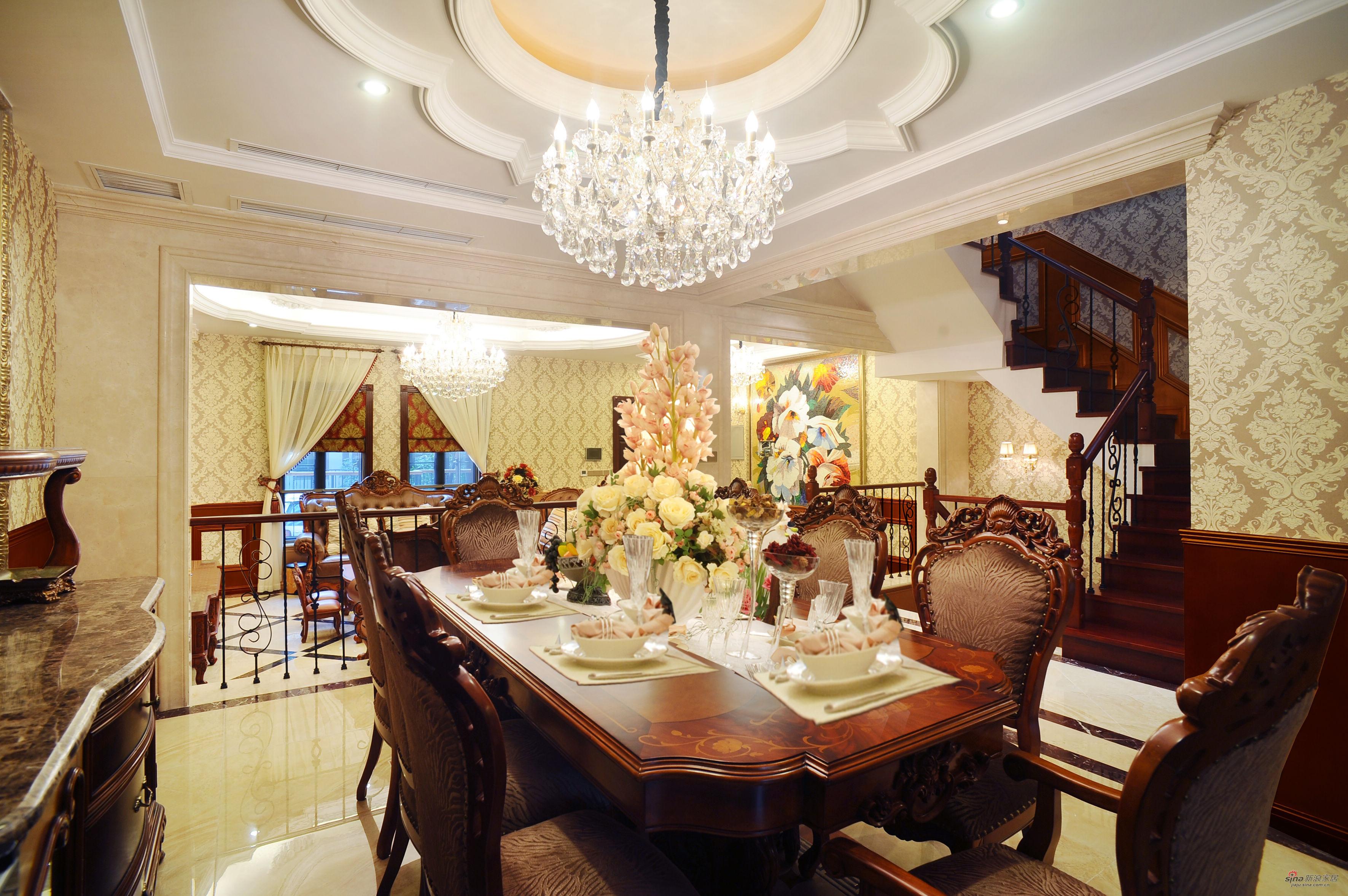 欧式 别墅 餐厅图片来自用户2746889121在低调在奢华中绽放-欧式风格55的分享