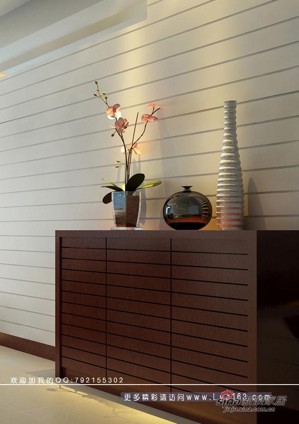 简约 三居 客厅图片来自用户2739153147在一套房子两种背景墙方案78的分享