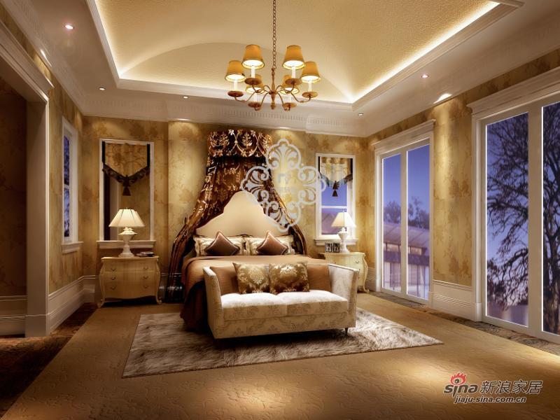 欧式 别墅 卧室图片来自用户2746953981在中信公园城_255别墅装修设计效果79的分享