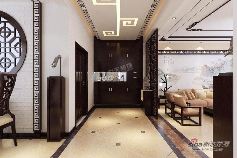 中式 三居 玄关图片来自用户1907659705在华侨城145平米-三室两厅-新中式风格55的分享