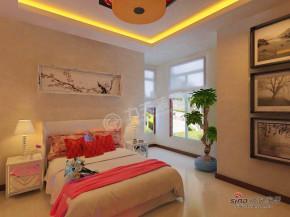 中式 三居 公主房 卧室图片来自阳光力天装饰在天房郦城118.00㎡-3室2厅2卫-新中式风格27的分享