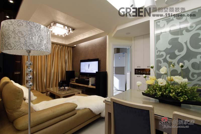 简约 二居 客厅图片来自阁韵空间装饰在G小调43的分享