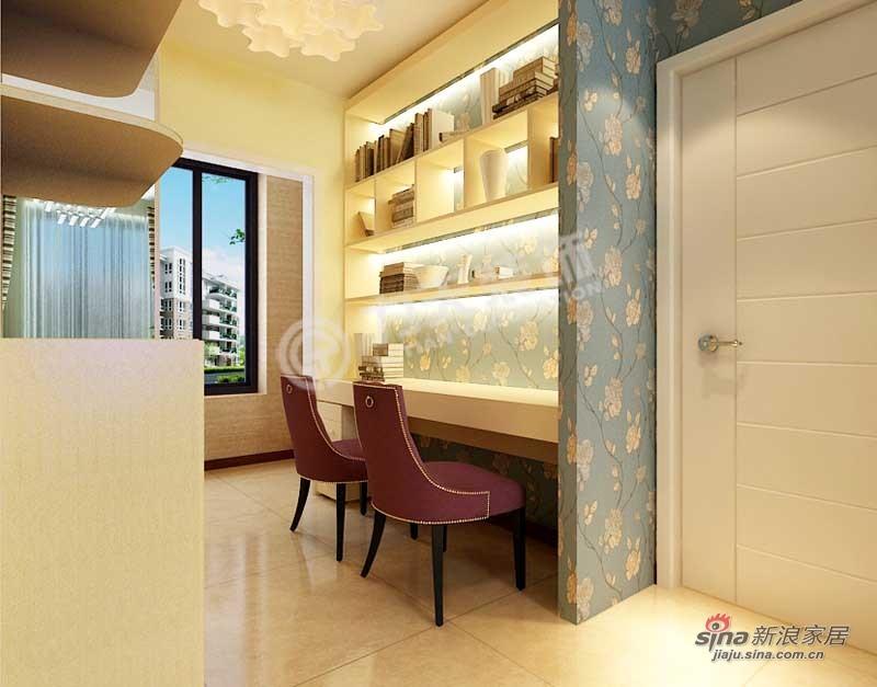 简约 三居 书房图片来自阳光力天装饰在中铁国际城-3室2厅1卫-现代简约75的分享